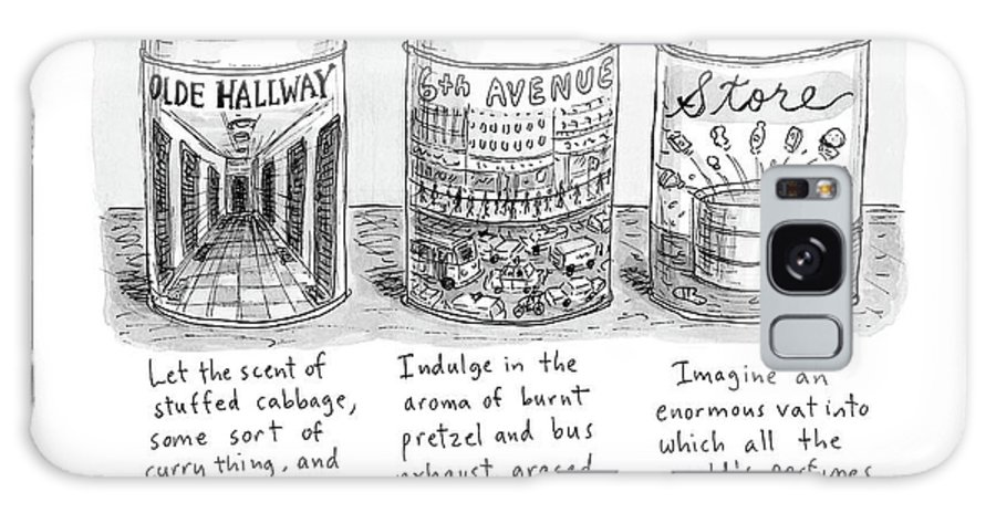 New From New York Candle Galaxy S8 Case featuring the drawing New Yorker May 15th, 2017 by Roz Chast