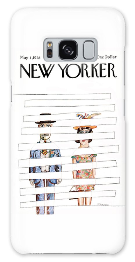 Saul Steinberg 50415 Steinbergattny  Galaxy S8 Case featuring the painting New Yorker May 1st, 1978 by Saul Steinberg