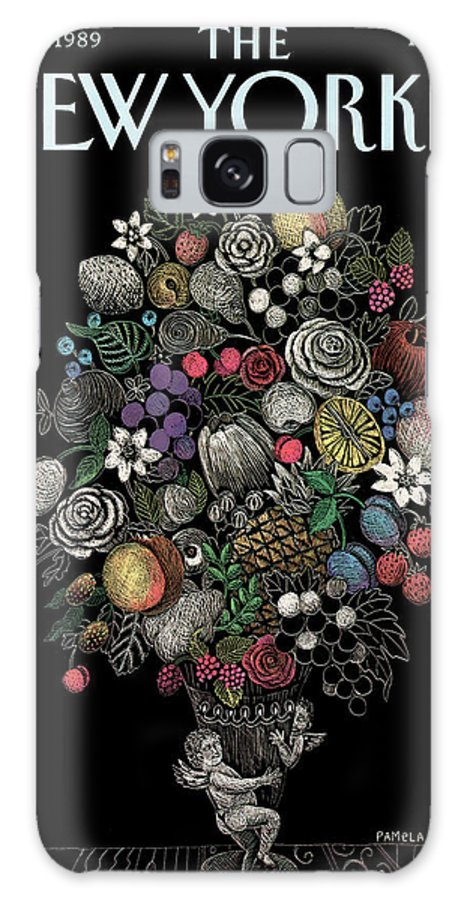Flower Galaxy S8 Case featuring the painting New Yorker May 1st, 1989 by Pamela Paparone