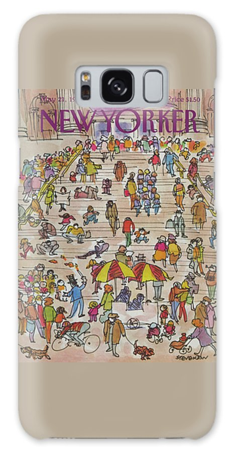 Metropolitan Museum Galaxy S8 Case featuring the painting New Yorker May 21st, 1984 by James Stevenson