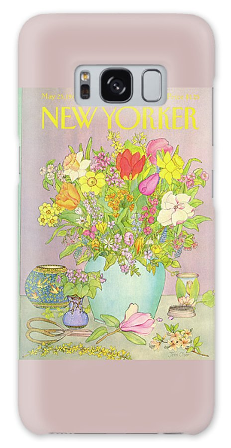 Household Galaxy S8 Case featuring the painting New Yorker May 25th, 1981 by Jenni Oliver