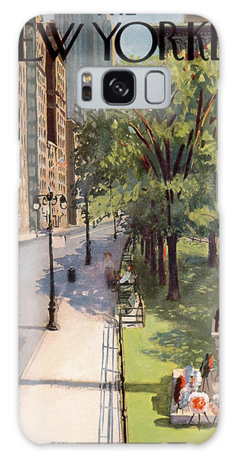 Arthur Getz Agt Galaxy S8 Case featuring the painting New Yorker May 31st, 1958 by Arthur Getz