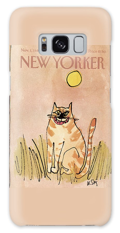 Holidays Galaxy Case featuring the painting New Yorker November 1st, 1982 by William Steig