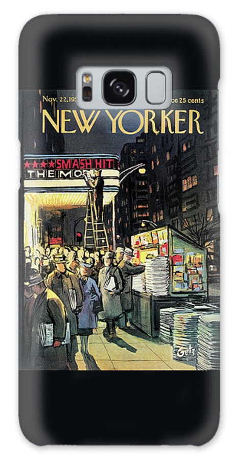 Entertainment Galaxy S8 Case featuring the painting New Yorker November 22nd, 1958 by Arthur Getz