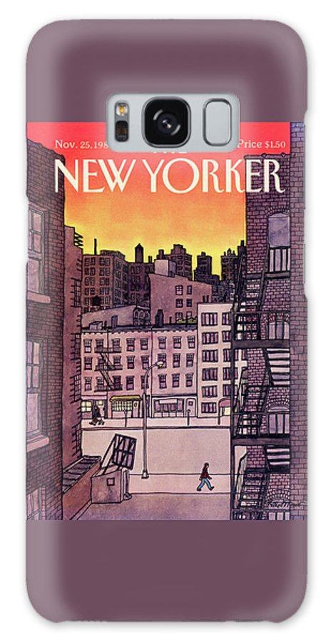 New York City Galaxy Case featuring the painting New Yorker November 25th, 1985 by Roxie Munro