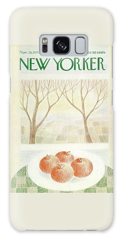 Fruit Galaxy S8 Case featuring the painting New Yorker November 28th, 1970 by Charles E Martin