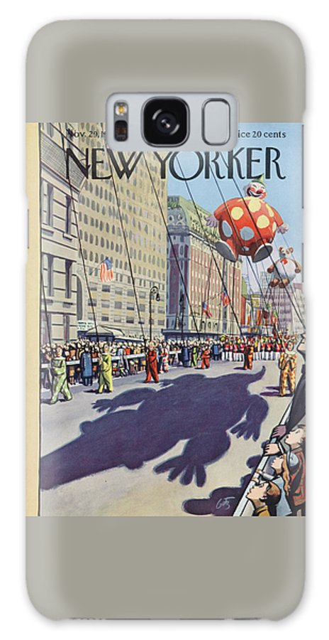 Party Galaxy S8 Case featuring the painting New Yorker November 29th, 1952 by Arthur Getz