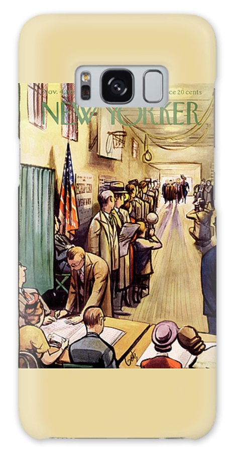 Politics Galaxy Case featuring the painting New Yorker November 4th, 1950 by Arthur Getz