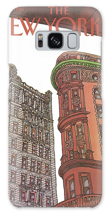 Business Offices Galaxy S8 Case featuring the painting New Yorker November 9th, 1981 by Roxie Munro