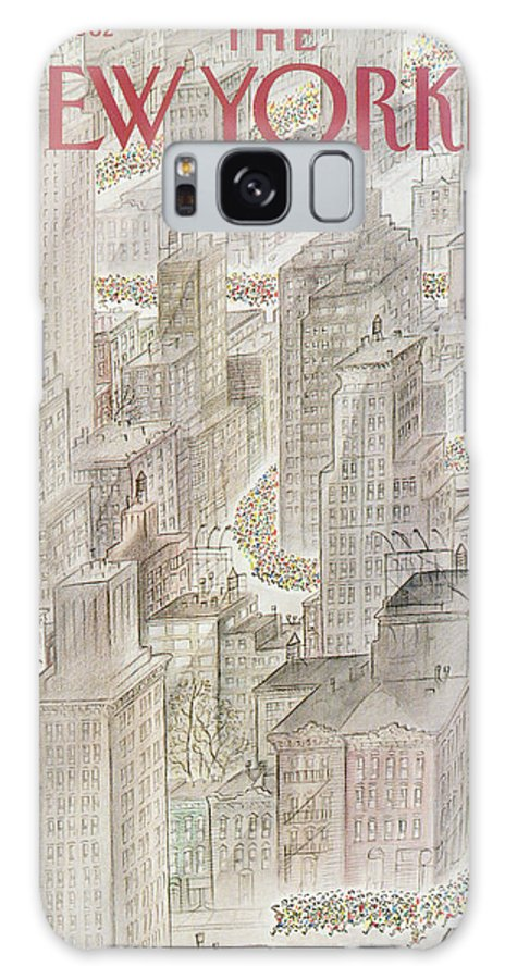 Marathon Galaxy S8 Case featuring the painting New Yorker October 25th, 1982 by Jean-Jacques Sempe