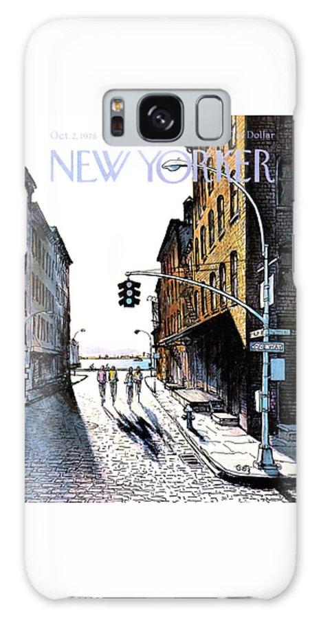 People Galaxy S8 Case featuring the painting New Yorker October 2nd, 1978 by Arthur Getz