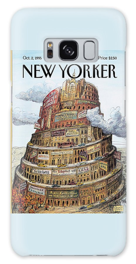 I Love Babel Galaxy S8 Case featuring the painting New Yorker October 2nd, 1995 by Edward Sorel