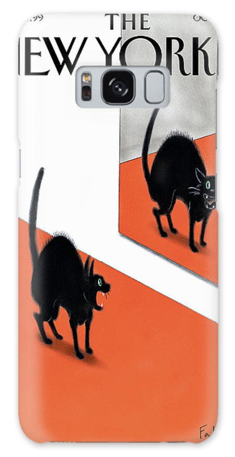 Halloween Galaxy S8 Case featuring the painting New Yorker October 30th 2006 by Ian Falconer