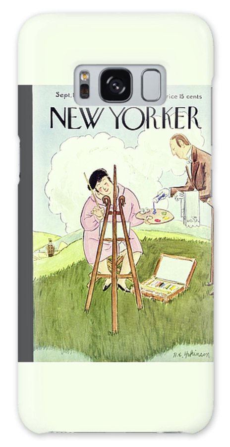 Landscape Galaxy S8 Case featuring the painting New Yorker September 1 1928 by Helene E Hokinson
