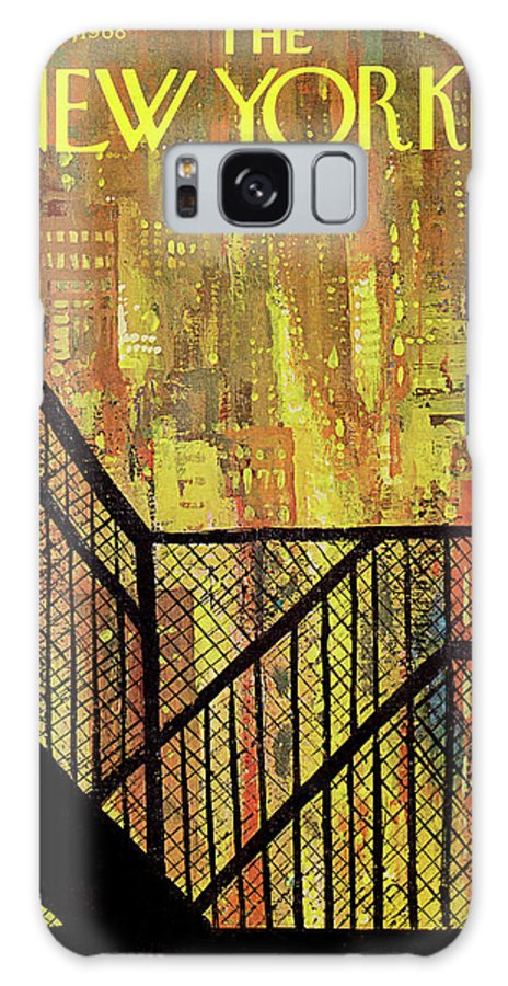 Arthur Getz Agt Galaxy S8 Case featuring the painting New Yorker September 21st, 1968 by Arthur Getz