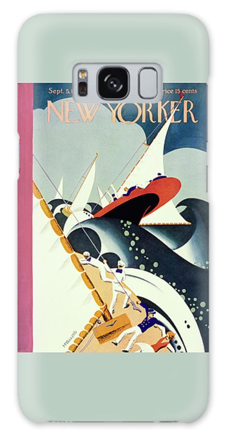 Illustration Galaxy S8 Case featuring the painting New Yorker September 5 1931 by Theodore G Haupt