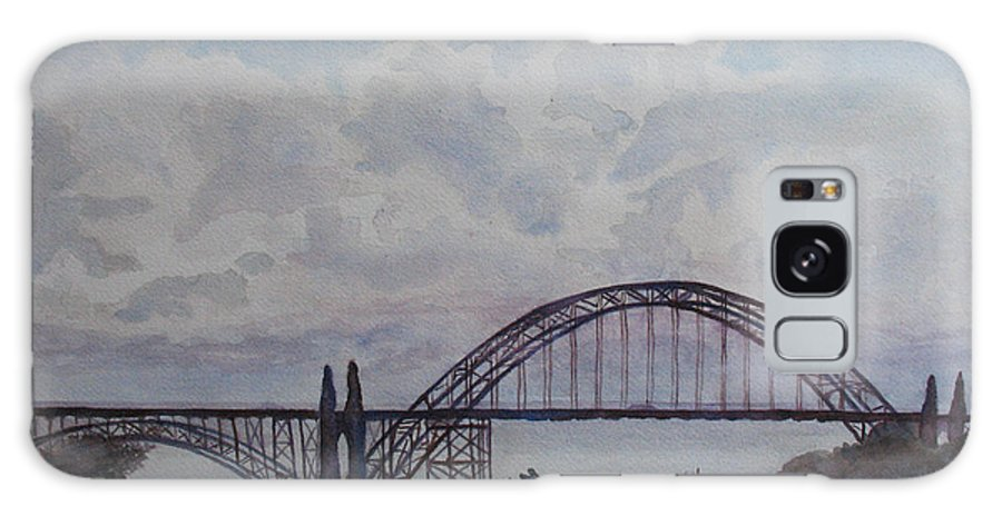 Newport Galaxy S8 Case featuring the painting Newport Bay Bridge I by Jenny Armitage