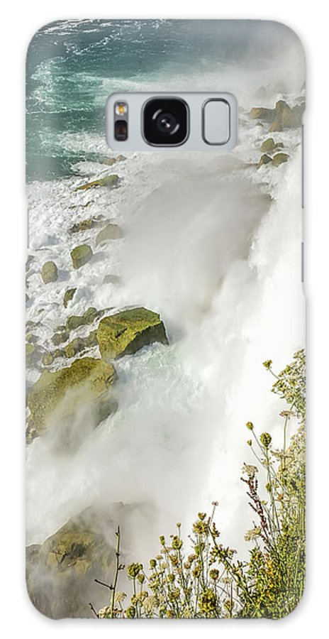 Niagara Falls On The Rocks Galaxy S8 Case featuring the photograph Niagara Falls On The Rocks by LeeAnn McLaneGoetz McLaneGoetzStudioLLCcom