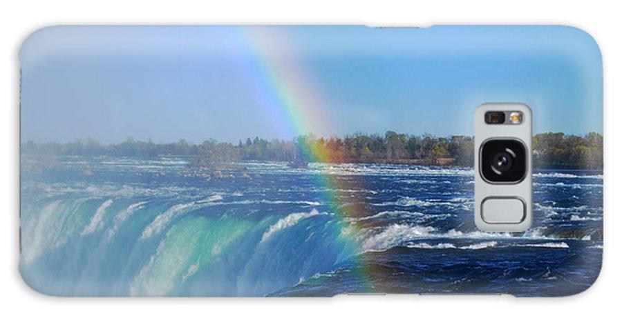 Niagara Falls Galaxy S8 Case featuring the photograph Niagara Falls Rainbow by Charline Xia