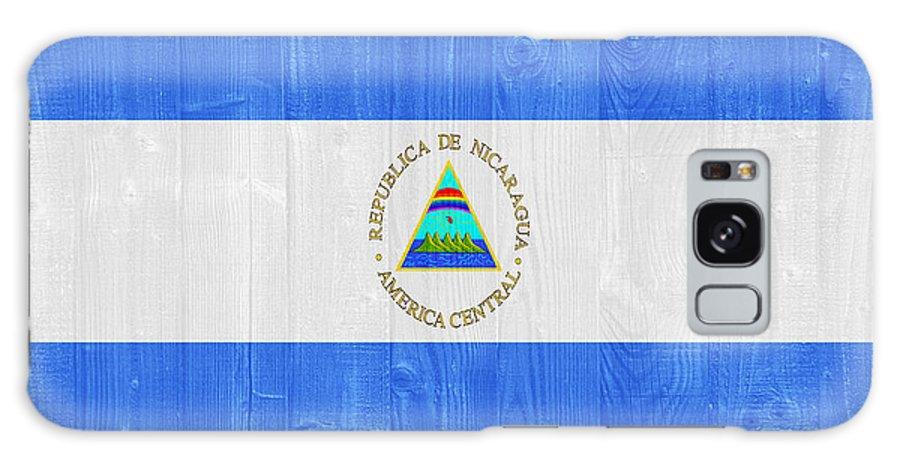 Nicaragua Galaxy S8 Case featuring the photograph Nicaragua Flag by Luis Alvarenga