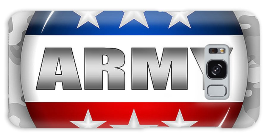 Army Galaxy S8 Case featuring the digital art Nice Army Shield 2 by Pamela Johnson