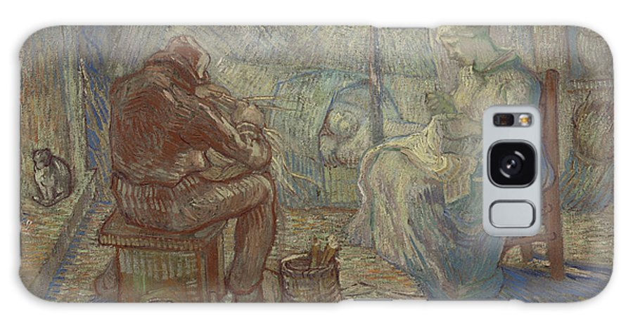 Night After Millet Galaxy S8 Case featuring the painting Night After Millet by Vincent Van Gogh