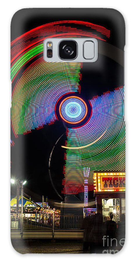 Fair Ride At Night Galaxy S8 Case featuring the photograph Night At The Fair by Dawna Moore Photography