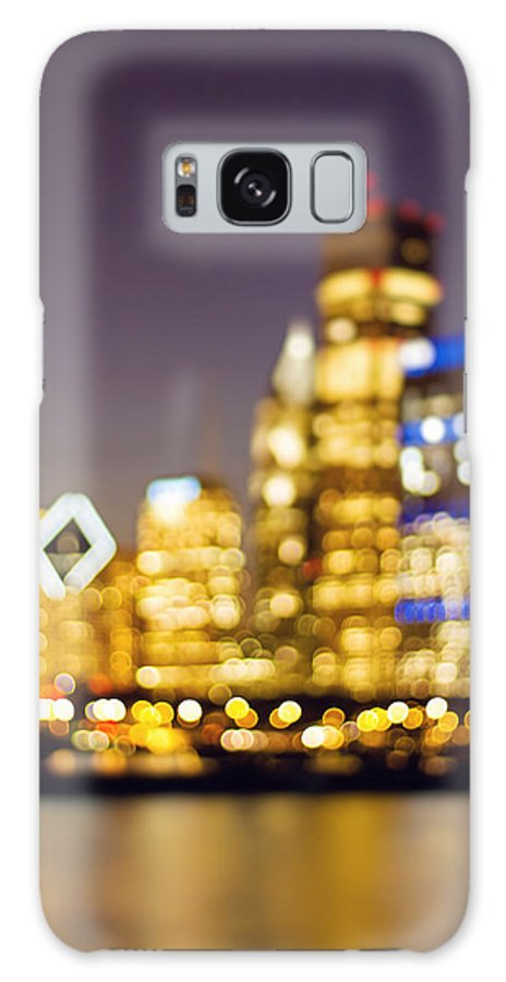 Chicago Galaxy S8 Case featuring the photograph Night Lights - Abstract Chicago Skyline by Melanie Alexandra Price