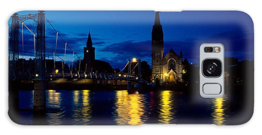 Inverness Galaxy S8 Case featuring the photograph Night Lights In Inverness by Riccardo Mottola