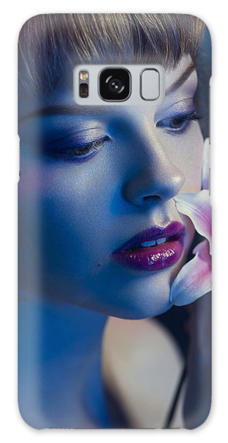 Beautiful Model Galaxy S8 Case featuring the photograph Night Lilly by Geoff Jones