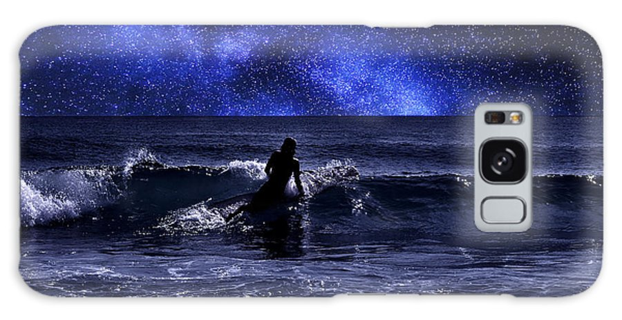 Night Galaxy S8 Case featuring the photograph Night Surfing by Laura Fasulo
