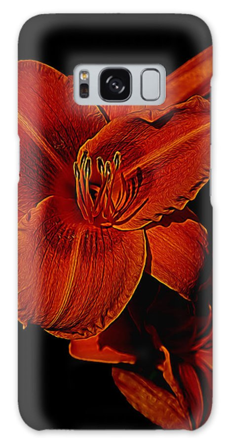 Lilly Galaxy S8 Case featuring the photograph Night Time Lilly by Melvin Busch