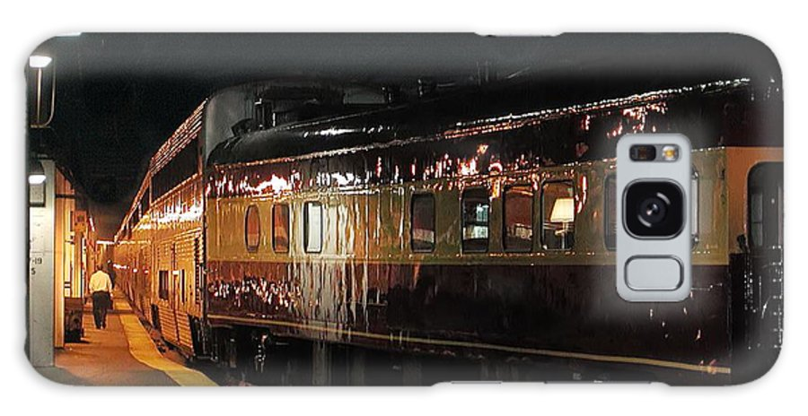 Station Galaxy S8 Case featuring the photograph Night Train by Steve Ondrus