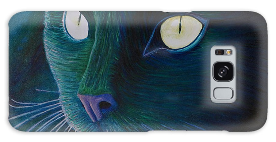Cat Galaxy S8 Case featuring the painting Night Vision by Brian Commerford