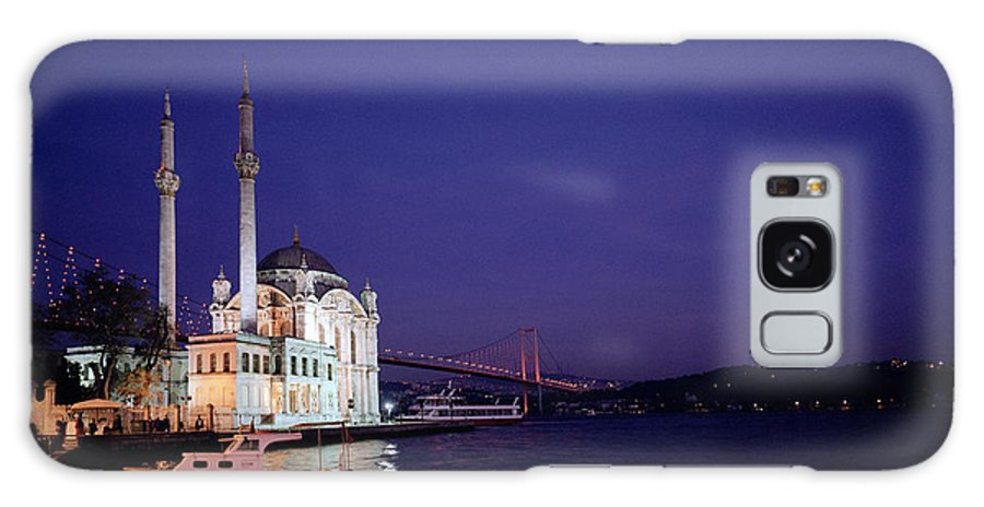 Ortakoy Mosque Galaxy S8 Case featuring the photograph Nightfall Over Istanbul by Shaun Higson