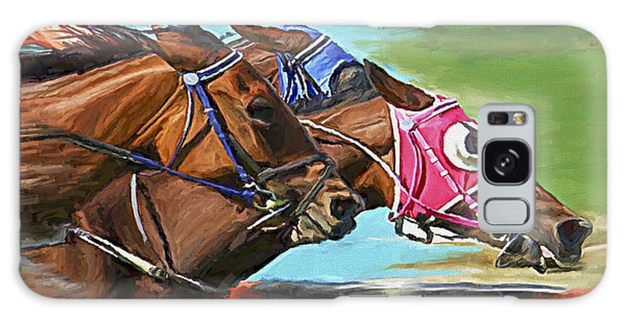 Horses Galaxy Case featuring the painting Nikita By A Head by David Wagner