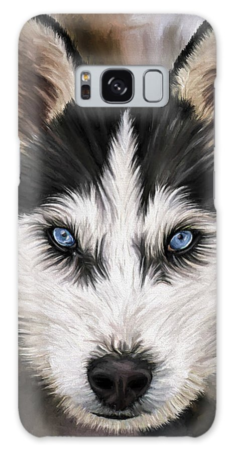 Dog Art Galaxy Case featuring the painting Nikki by David Wagner
