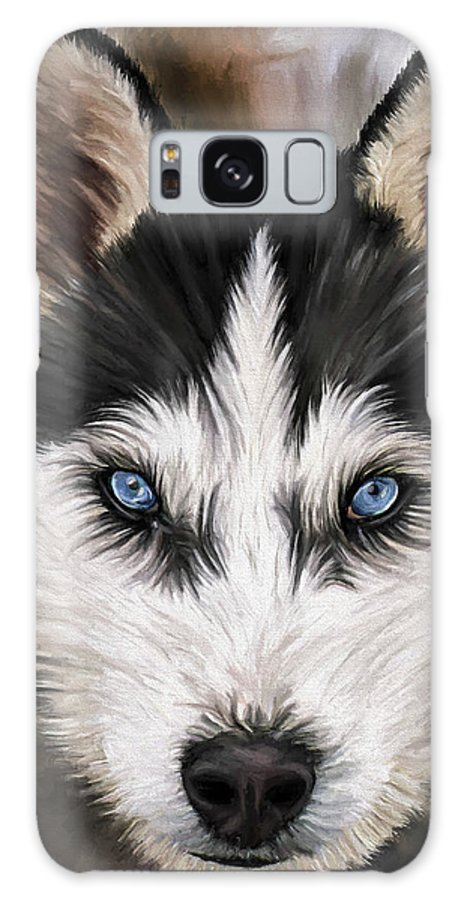 Dog Art Galaxy S8 Case featuring the painting Nikki by David Wagner