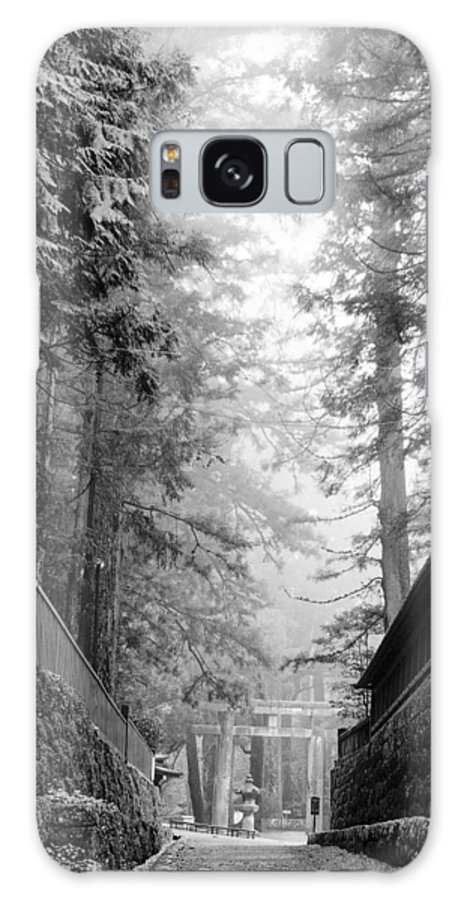 Nikko National Shrine Galaxy S8 Case featuring the photograph Nikko Pathway And Fog by Ronald Steiner