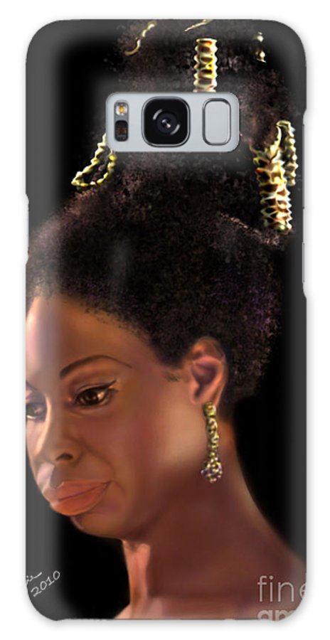 Jazz Galaxy S8 Case featuring the painting Nina Simone by Reggie Duffie