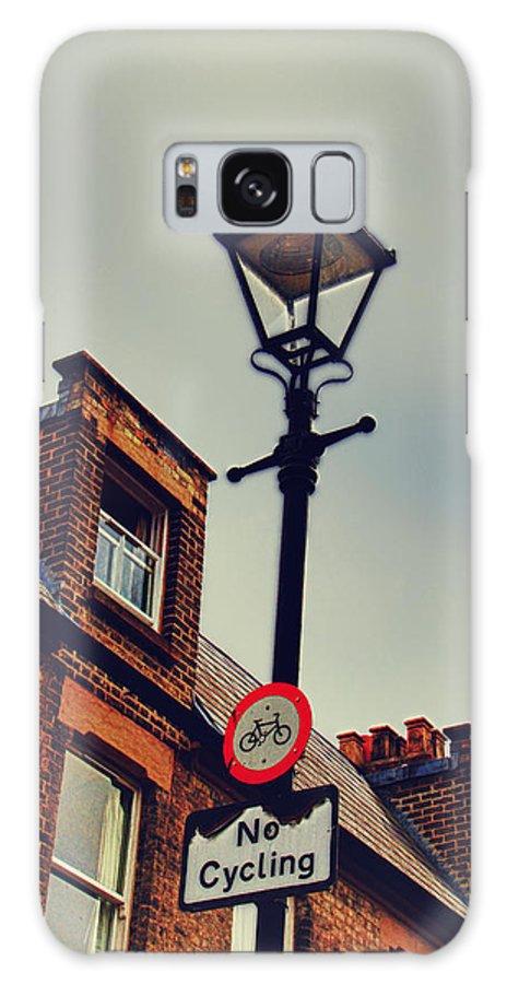 London Galaxy S8 Case featuring the photograph No Cycling by Oscar Alvarez Jr