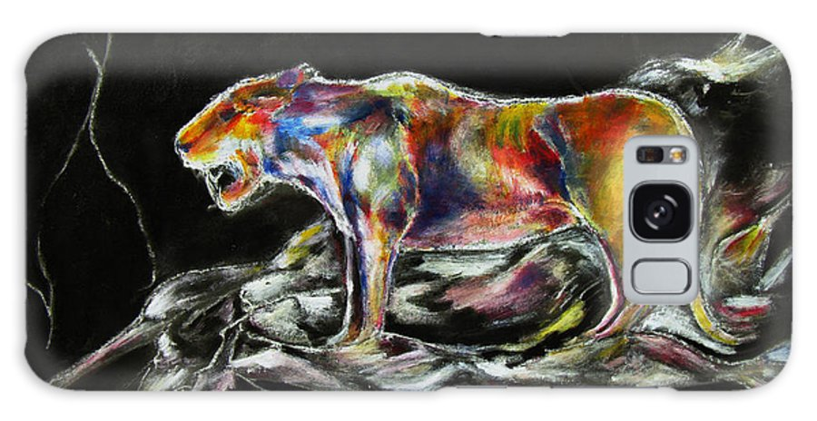 Animals Galaxy S8 Case featuring the painting No Fear by Tom Conway
