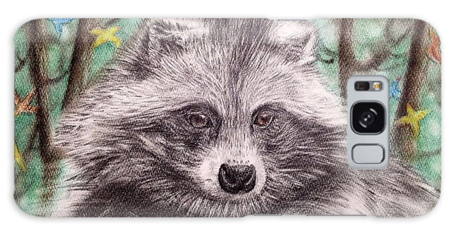 Raccoon Dog Galaxy S8 Case featuring the drawing Stop Fur Trade by Keiko Olds