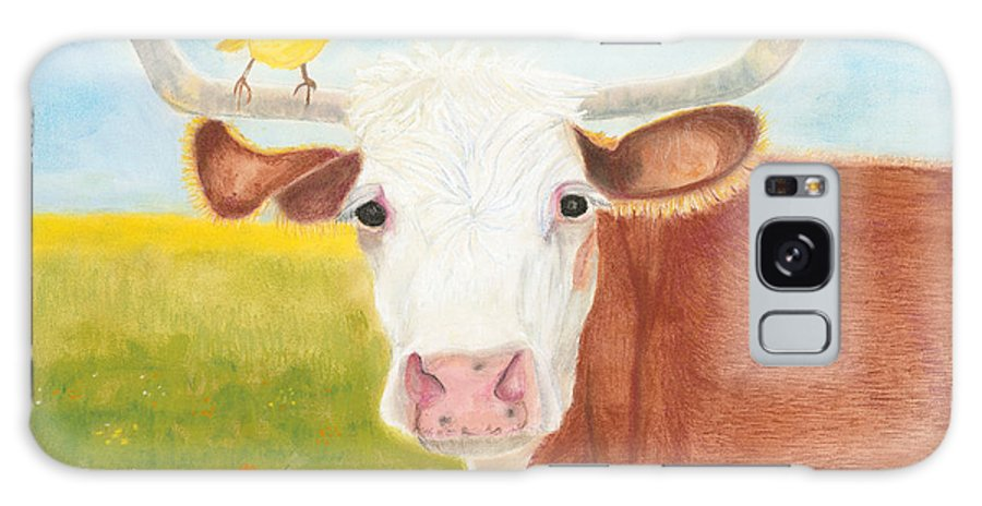 Cow Galaxy S8 Case featuring the painting No Tree Necessary by Arlene Crafton