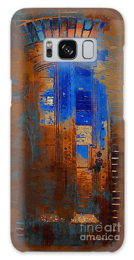 Brick Galaxy S8 Case featuring the painting No Welcome by RC DeWinter