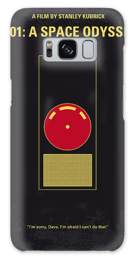 2001: A Space Odyssey Galaxy S8 Case featuring the digital art No003 My 2001 A Space Odyssey 2000 Minimal Movie Poster by Chungkong Art