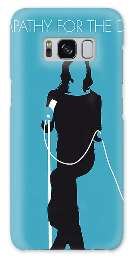 Stones Galaxy S8 Case featuring the digital art No005 My The Stones Minimal Music Poster by Chungkong Art