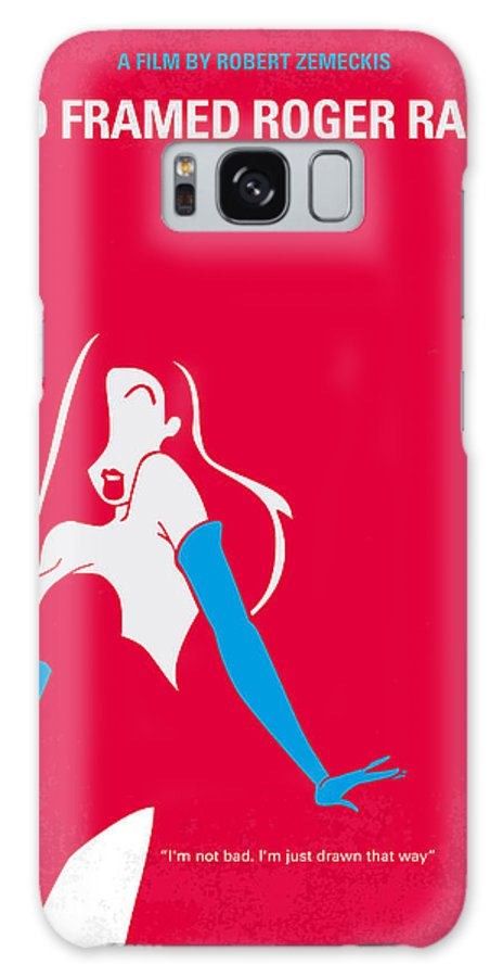 Roger Galaxy S8 Case featuring the digital art No271 My Roger Rabbit Minimal Movie Poster by Chungkong Art