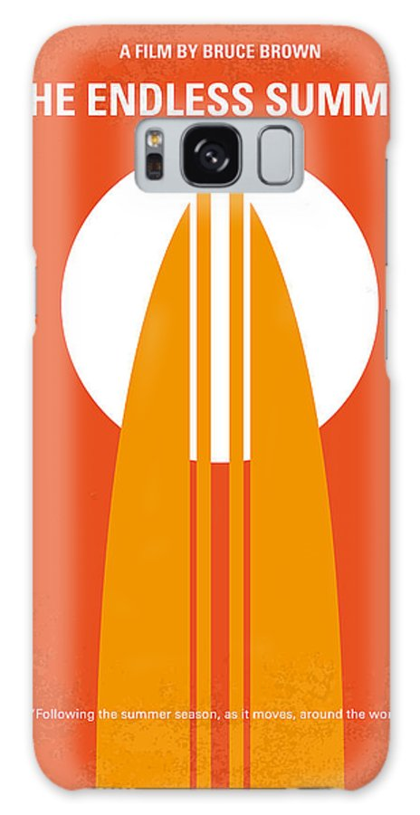 Endless Galaxy S8 Case featuring the digital art No274 My The Endless Summer Minimal Movie Poster by Chungkong Art