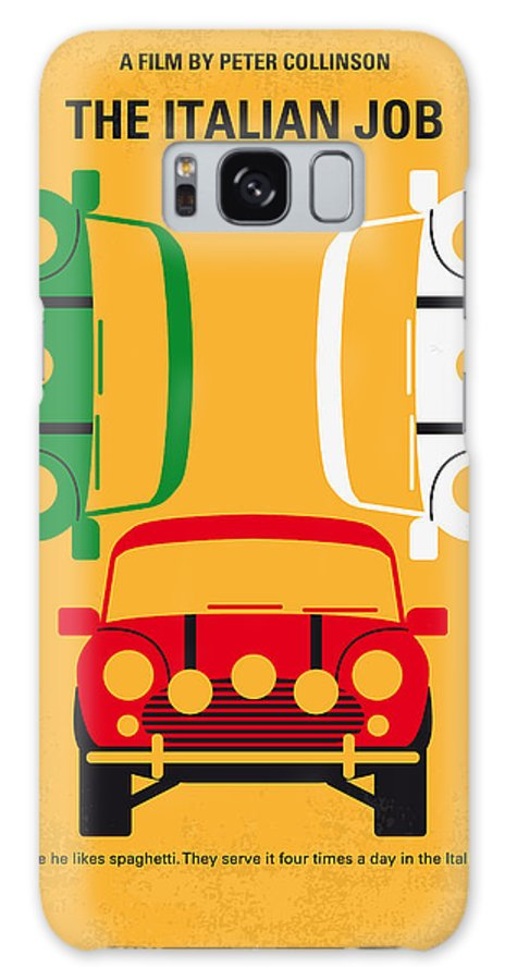 The Galaxy S8 Case featuring the digital art No279 My The Italian Job Minimal Movie Poster by Chungkong Art